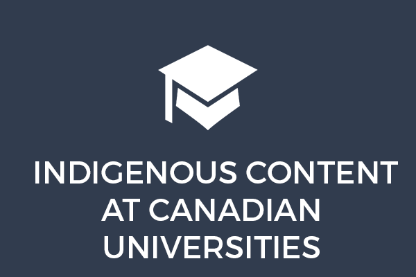 Indigenous Content at Canadian Universities
