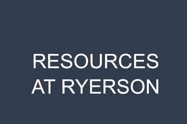 Resources at Ryerson